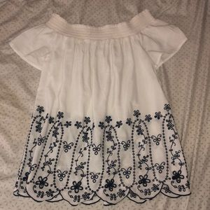 White old navy off the shoulder top.